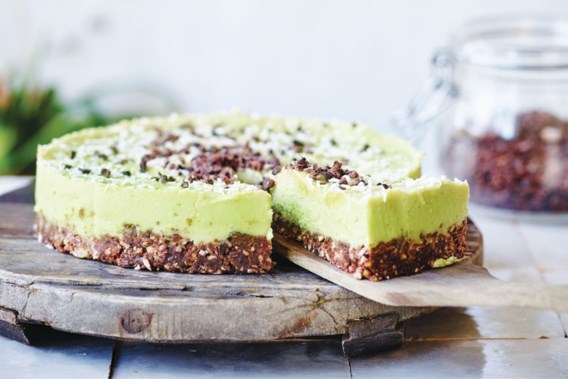 Vegan avocado-cheesecake, een recept van Nathalie Meskens