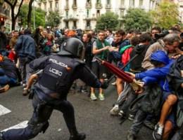 'Honderden gewonden door politiegeweld in Catalonië'
