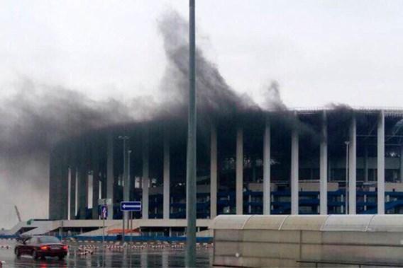 Opnieuw zware brand in WK-stadion in aanbouw