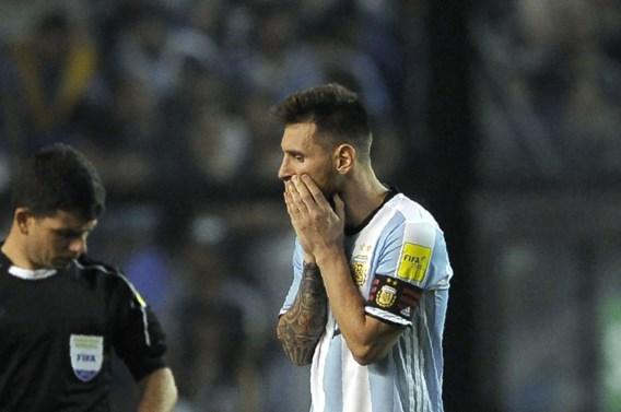 WK zonder Messi en Argentinië is nu echt mogelijk: pas zesde na gelijkspel én geschiedenis tegen