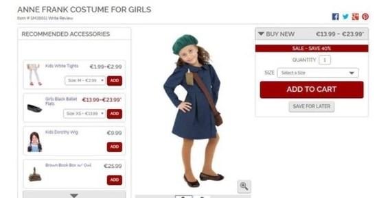 Winkel schrapt Anne Frank-kostuum na heisa