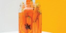 Gepekelde worteltjes met saffraan, steranijs & sinaasappelzeste