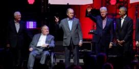 Opvallend: vijf ex-presidenten ontmoeten elkaar voor het goede doel
