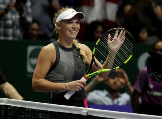 Setwinst van Svitolina levert Caroline Wozniacki plaats in halve finales van Masters op