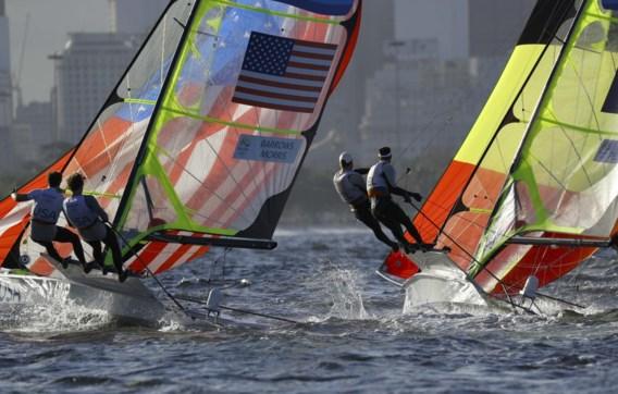 Belgische zeilduo aan de leiding op olympisch water van Tokio