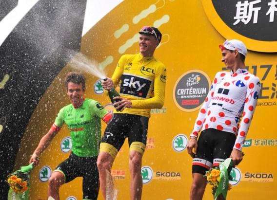 Chris Froome is de eerste winnaar van de Ronde van Shanghai
