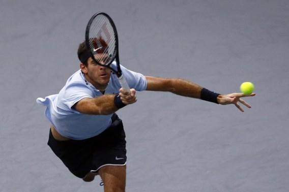 Del Potro overleeft kwartfinales in Parijs-Bercy niet, Goffin profiteert op ATP-ranking