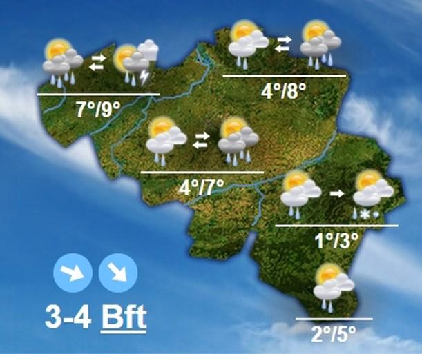 Eerste sneeuw in België komt eraan