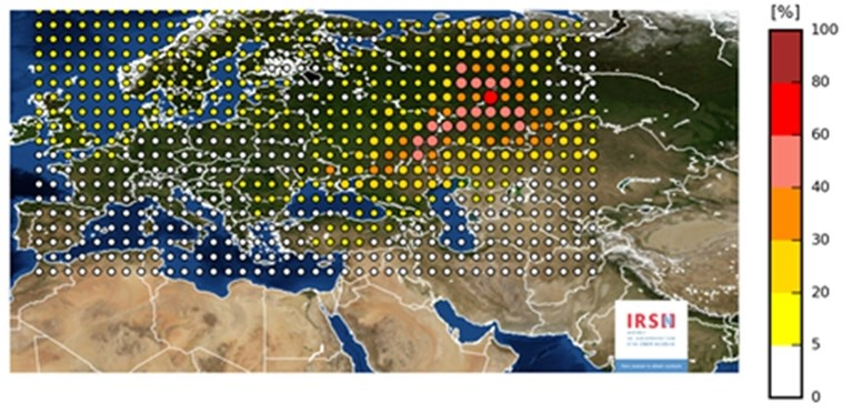 Radioactieve wolk boven Europa na nucleair ongeval in Rusland of Kazachstan