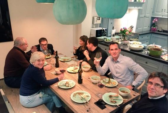 Puigdemont dineert bij N-VA'er Lorin Parys: 'Stoofpotje was lekker'