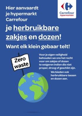 Weg met plastic wegwerpzakjes: voortaan met tupperwaredoos naar Carrefour