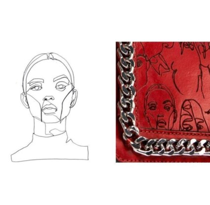 Zara kopieert portretten van jonge kunstenaars op tas