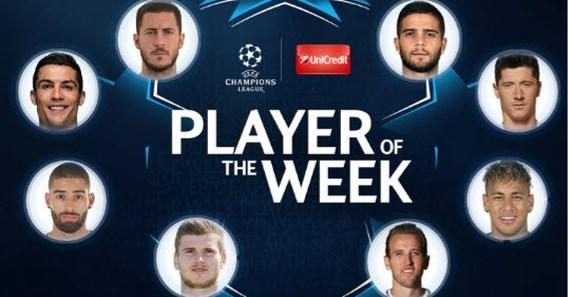 Twee Belgen genomineerd voor Speler van de Week in de Champions League