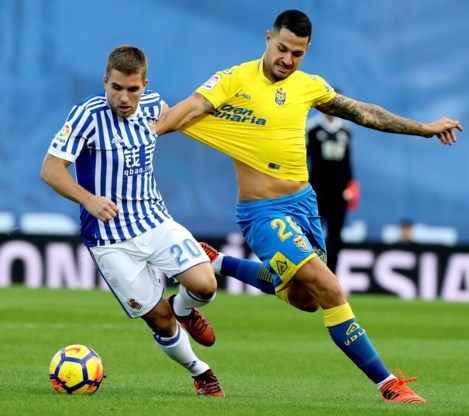 Las Palmas-winger Vitolo is maand out met dijblessure