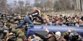 Menigte verhindert arrestatie oud-president Saakasjvili in Kiev