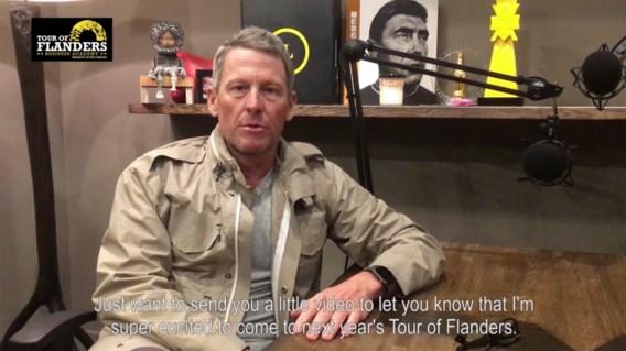 Lance Armstrong is eregast tijdens Ronde Van Vlaanderen