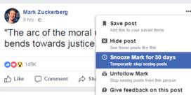 Facebook laat toe om vrienden tijdelijk te verbannen