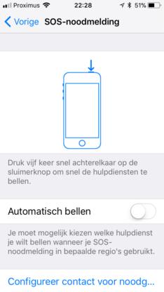 Apple maakt SOS-functie sneller bereikbaar in iOS 11