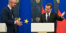 Michel ontmoet Medvedev: 'Zonder taboes over sancties gesproken'