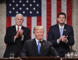 Trump in eerste State of the Union: 'Schuif meningsverschillen opzij'
