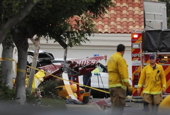 Helikopter crasht op huis: drie doden en twee gewonden
