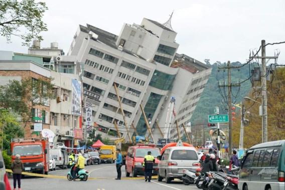 Hotel ingestort bij zware aardbeving in Taiwan, zeker vier doden