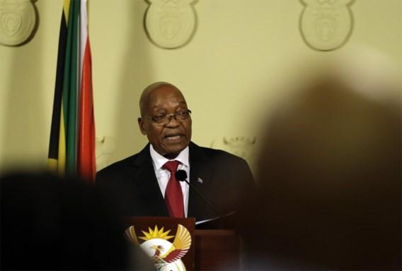 Zuma zwicht onder de druk