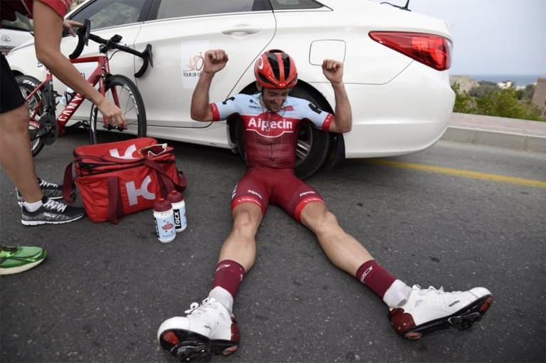 Nathan Haas klopt Van Avermaet in tweede rit Ronde van Oman en pakt leiderstrui
