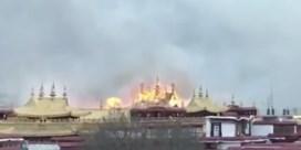 Brand treft 'heiligste tempel in Tibet'