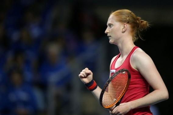 Van Uytvanck brengt België opnieuw langszij in Fed Cup met makkelijke zege, dubbelspel wordt beslissend