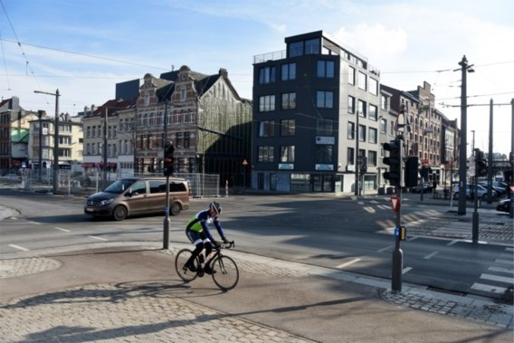 Antwerpen test kruispunt met 'vierkant groen' uit