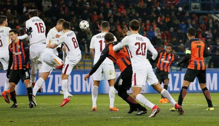 Bleke Nainggolan gaat met AS Roma onderuit tegen Shakhtar Donetsk