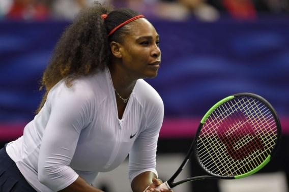 Serena Williams verliest bij rentree in dubbel Fed Cup