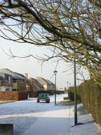 Limburg en Vlaams-Brabant bedekt onder laagje 'industriële sneeuw'