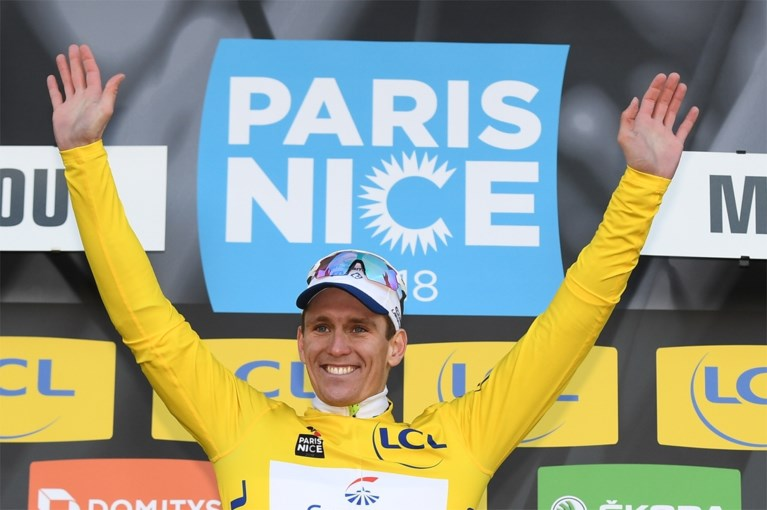 Arnaud Démare wint eerste rit Parijs-Nice na onwaarschijnlijke millimeterspurt, Wellens komt net tekort