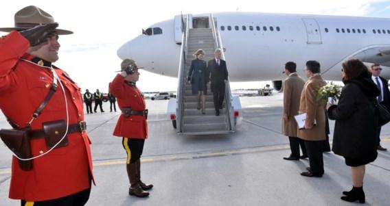 Koning Filip en koningin Mathilde geland in Canada voor staatsbezoek