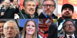 Deze 7 kandidaten nemen het vandaag op tegen Poetin