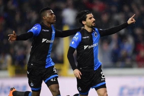 Club Brugge in extremis voorbij Racing Genk, voorsprong bedraagt nu al negen punten
