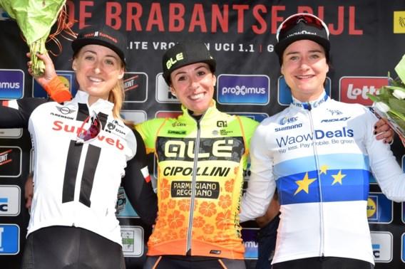 Italiaanse Marta Bastianelli wint Brabantse Pijl bij de vrouwen, D'hoore valt naast het podium