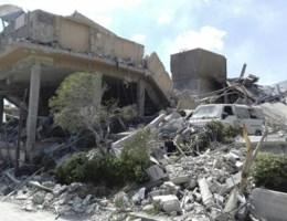 Eerste beelden van ravage na luchtaanvallen opgedoken