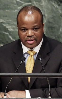 Koning schrapt naam Swaziland