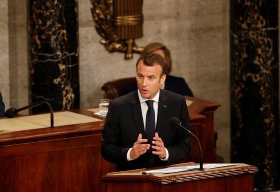 Macron: 'We kunnen niet zomaar uit de deal met Iran stappen'