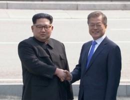 'Moedig symbool van vrede': Noord- Korea schudt Zuid-Korea de hand