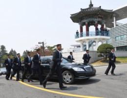 Bodyguards van Kim Jong-un hebben uitstekende conditie