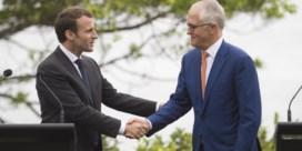 Macron bedankt 'lekkere' vrouw van Australische premier