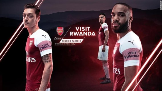 Rwanda wordt nieuwe shirtsponsor van Arsenal