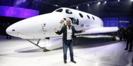 Richard Branson traint voor ruimtereis
