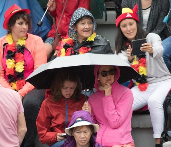 Wedstrijden op Roland Garros onderbroken voor regen, ook Wickmayer slachtoffer