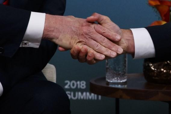 Handdruk Macron laat sporen na bij Trump