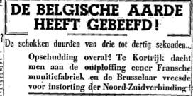 Opschudding overal - de Belgische aarde heeft gebeefd